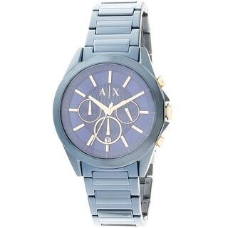 Armani Exchange Men's AX2607 Blue Stainless-Steel Japanese Quartz Diving Watch|https://ak1.ostkcdn.com/images/products/is/images/direct/5a8f6e19d3e55d74434e91811985be756cd5c307/Armani-Exchange-Men%27s-AX2607-Blue-Stainless-Steel-Japanese-Quartz-Diving-Watch.jpg?impolicy=medium