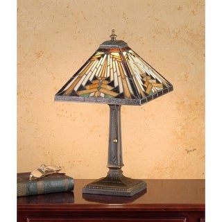 Meyda Tiffany 66231 Stained Glass / Tiffany Accent Table Lamp from the Mission Collection