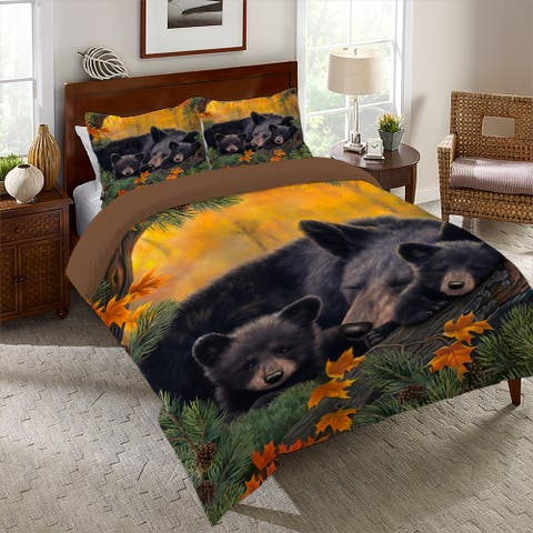 Warm Cozy Bears Twin Comforter Set