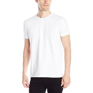 Hugo Boss Green Men's Modern Fit Jersey Logo T-Shirt White