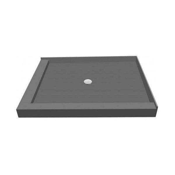 "Tile Redi P3042CDL-PVC 30"" x 42"" Double Curb Shower Pan with Center Drain"