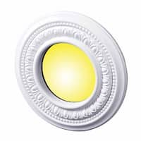 "3 Spot Light Ring White Trim 4"" ID x 8"" OD Mini Medallion 3 Pack 
