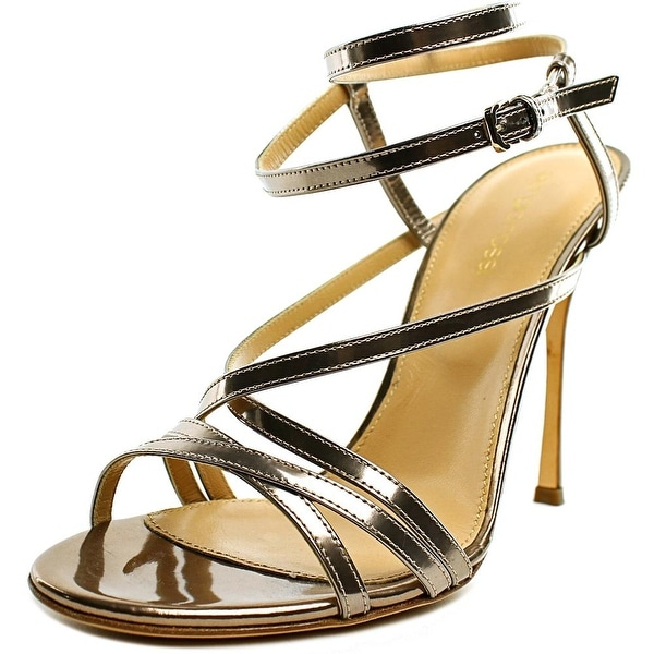 Sergio Rossi Scarpe Donna Women Open Toe Patent Leather Bronze Sandals