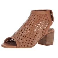 Steven by Steve Madden Womens Sambar Leather Peep Toe Casual Slingback Sandals