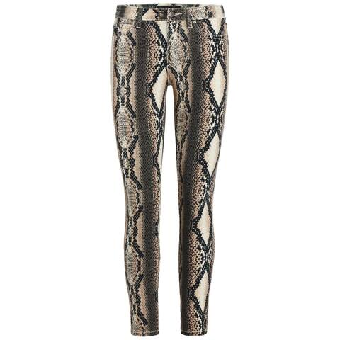Joe's Womens Skinny Jeans Snake Print Mid-Rise - Brown