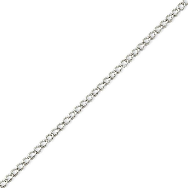 Chisel Stainless Steel 3mm Curb Chain - 18 Inches (3 mm) - 18 in