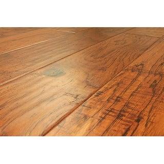 "Kanstar Engineered Hardwood - 17.5 sq. ft. Handscraped Collection Hickory - Winston / 5"" / 1/2"" / Random Length"