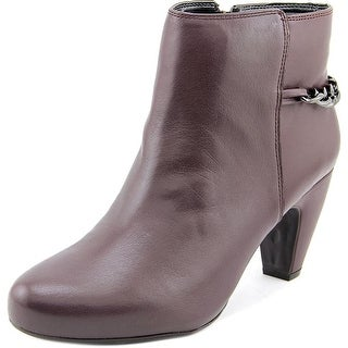 Easy Spirit Women's Parilynn Round Toe Leather Bootie
