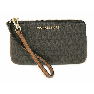 Link to Michael Kors Jet Set Travel Large Top Zip Brown Signature PVC Wristlet Clutch (35F8GTVW3B) Similar Items in Shop By Style