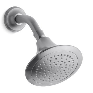 Kohler K-10282-AK Forte 2.5 GPM Single Function Shower Head with Katalyst and MasterClean Technologies