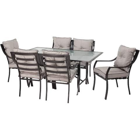Hanover Outdoor Lavallette Grey 7-piece Outdoor Dining Set