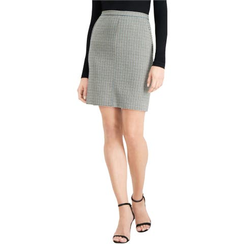 Anne Klein Womens Houndstooth Pencil Skirt