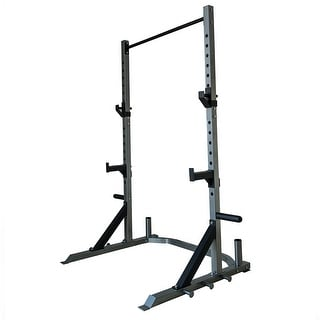 Akonza Barbell Deluxe Power Cage Rack Band Post Spotter Olympic Plate & Bar Storage