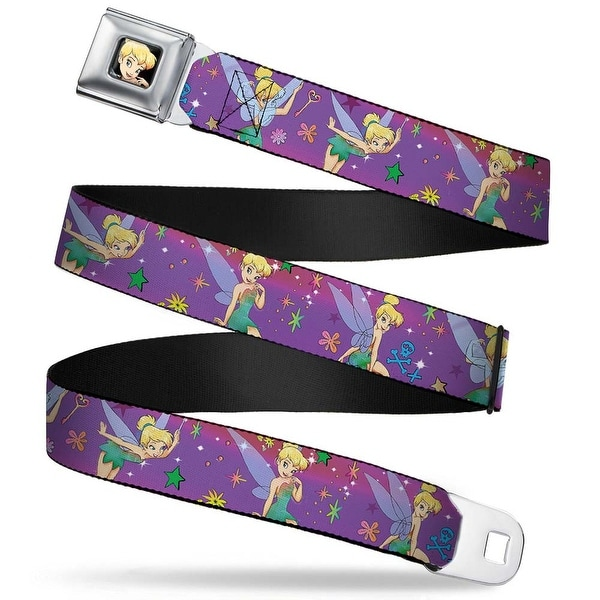 Tinker Bell Close Up Full Color Tinker Bell Poses Flowers Stars Skull Seatbelt Belt