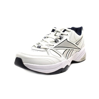 Reebok Royal Trainer  Men 4E Round Toe Leather White Running Shoe