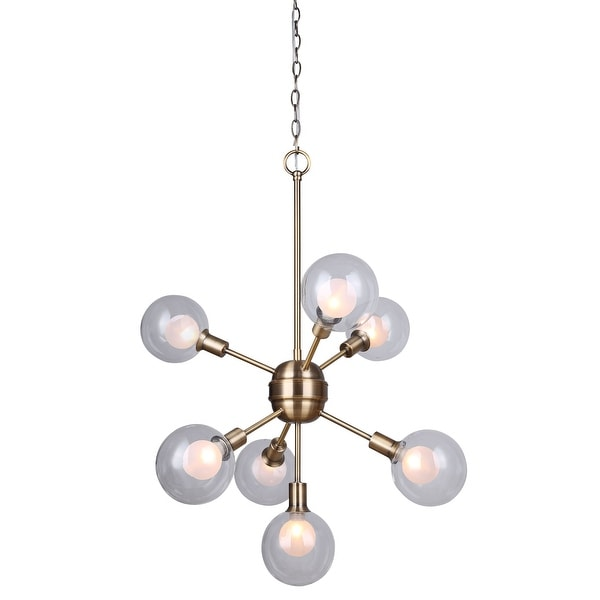 Canarm Estella 7 Light Chain Chandelier with Clear and Frosted ...