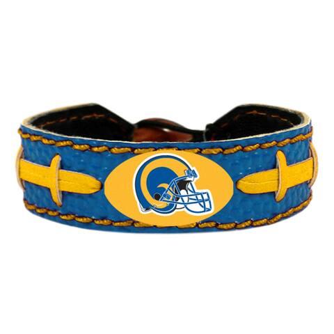 Los Angeles Rams Bracelet Team Color Vintage Logo Football