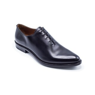 Givenchy Mens Black Polished Leather Derby Lace Shoes Oxfords