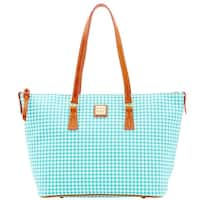 Dooney & Bourke Small Gingham Zip Top Shopper Tote (Introduced by Dooney & Bourke at $248 in Jan 2016)