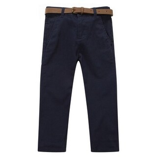 Richie House Little Boys Blue Classic Bright Belted Pants 2-6 (Option: 6)