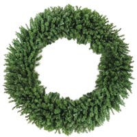 7' Commercial Size Canadian Pine Artificial Christmas Wreath - Unlit
