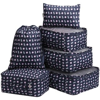 LANGRIA 6 Set Packing Cubes Organizers for Travel Luggage Suitcase Bag