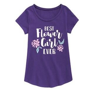 Best Flower Girl Ever - Youth Girl Short Sleeve Curved Hem Tee