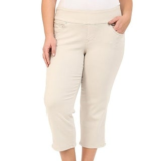 JAG Jeans NEW Beige Pull-On Womens 16W Plus Capri Cropped Stretch Pants