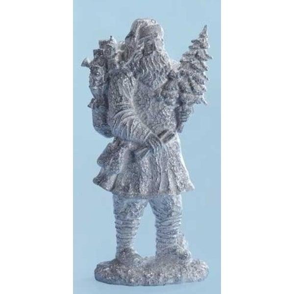 "Pack of 2 Large Iced Santa Christmas Figure 20"""