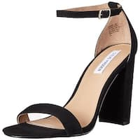 Steve Madden Womens Carrson Suede Open Toe Special Occasion Ankle Strap Sandals