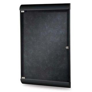 42.12 x 27.75 in. 1-Door Black Frame Silhouette Enclosed Bulletin