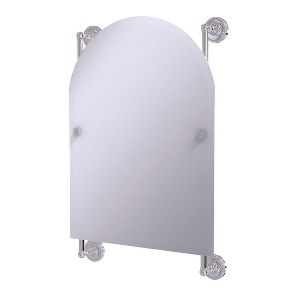 Allied Brass Prestige Regal Collection Arched Top Frameless Rail Mounted Mirror