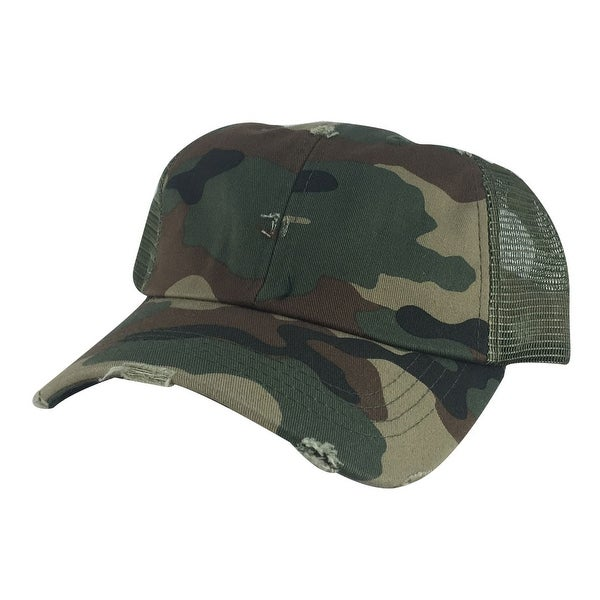 Shop 110 Series Vintage Mesh Curved Trucker Snapback Cap Hat - Woodland Camo  - multi-color - Free Shipping On Orders Over  45 - Overstock.com - 13432851 a27c91dc8545