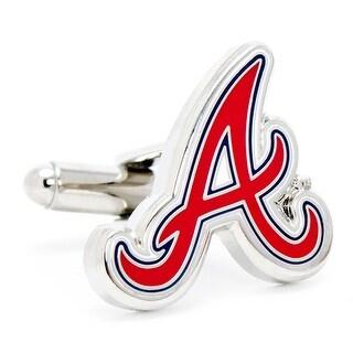 Silver Plated Atlanta Braves Cufflinks