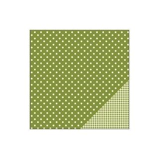 Pebbles Basics Paper 12x12 Dot Leaf