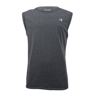 Champion Men's Jersey Sleeveless T-Shirt (L, Granite Heat) - granite heat