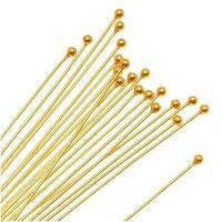 22K Gold Plated Ball Head Pins 22 Gauge 1.5 Inch (x20)