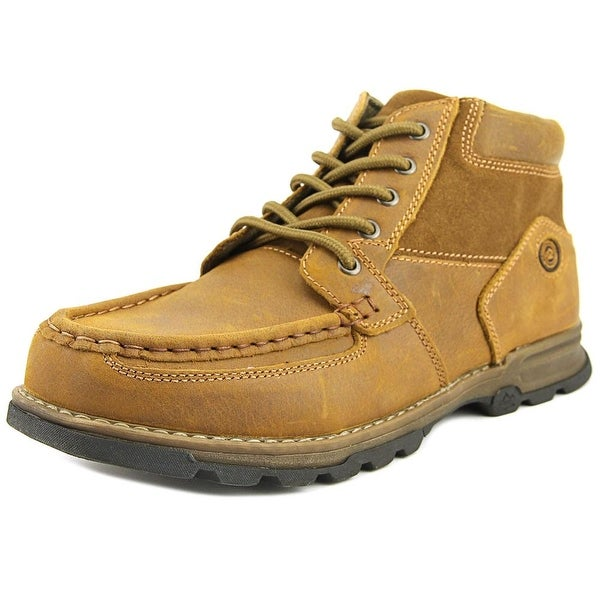 Nunn Bush Pershing Men Moc Toe Leather Brown Chukka Boot