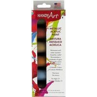 Handy Art Acrylic Paint Kit .75oz 6/Pkg-Metallic