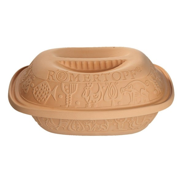 Romertopf by Reston Lloyd Classic Series Glazed Natural Clay Cooker, Medium