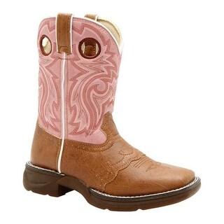 "Durango Boot Girls' BT287 8"" Li'l Flirt Tan/Pink"