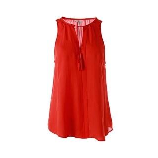 Joie Womens Airlan Silk Sleeveless Blouse - L