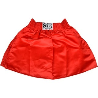 Cleto Reyes Women's Satin Boxing Skirt Trunks - Large - Red