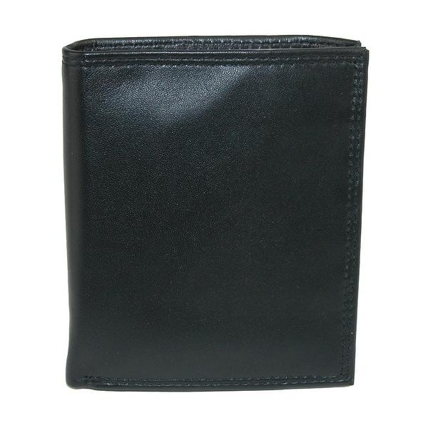Buxton Men's Emblem Leather Credit Card Folio Pocket Secretary - One size