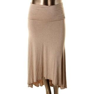 Studio M Womens Hi-Low Lightweight Straight Skirt