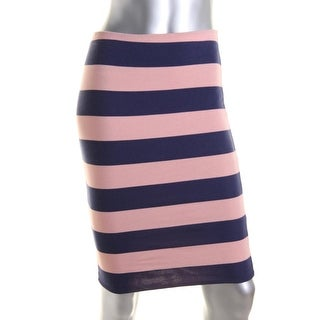 Zara W&B Collection Womens Striped Above Knee Pencil Skirt - L