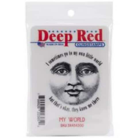 Deep Red Stamps My World Sentiment Rubber Cling Stamp - 2 x 2.1