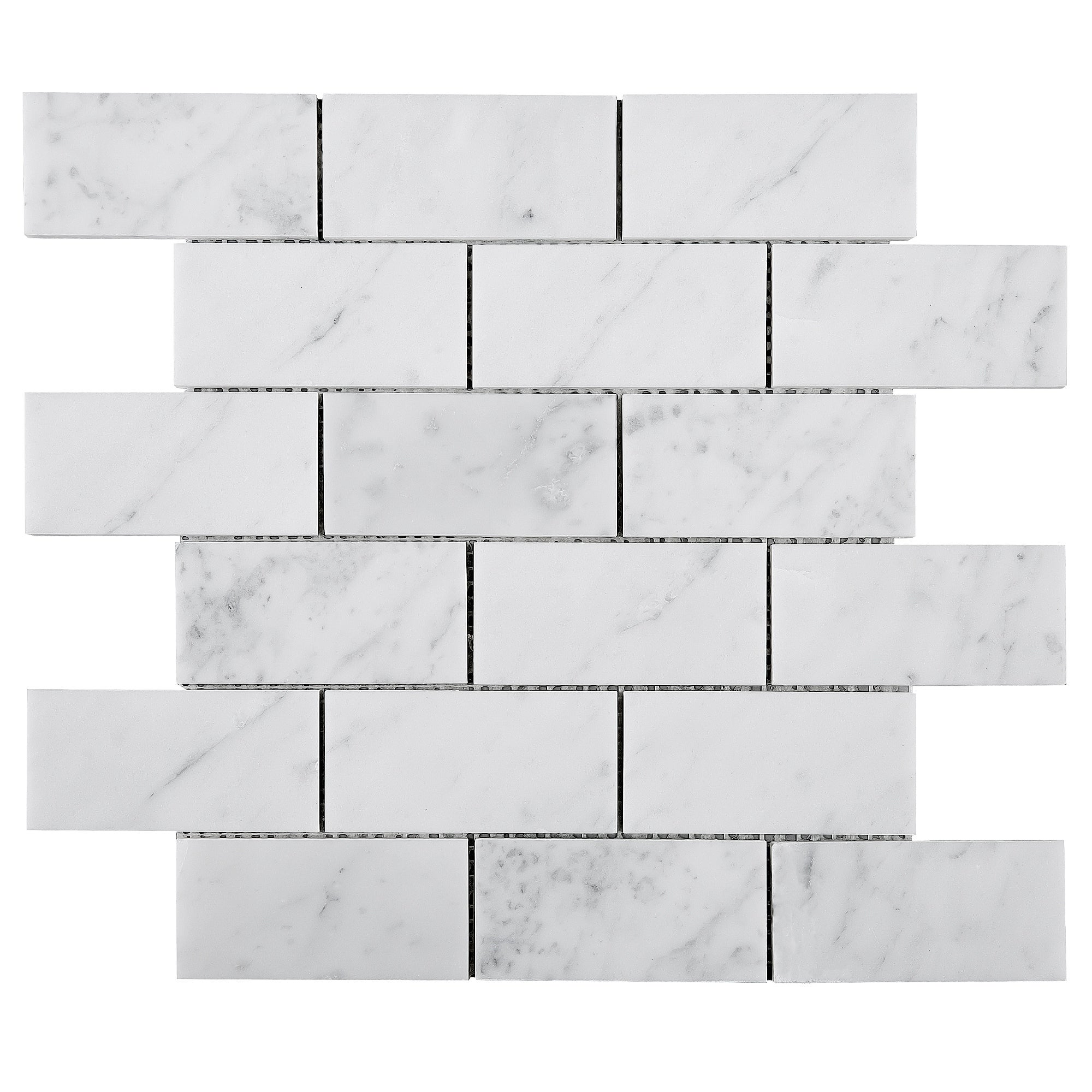 Tilegen Rectangle 2 X4 White Carrara Marble Subway Tile In White Floor And Wall Tile 10 Sheets 9 6sqft Overstock 27973540