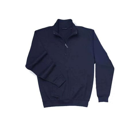 Scott Barber Mens Sweater Navy Blue Size Large L 1/2 Zip Pullover