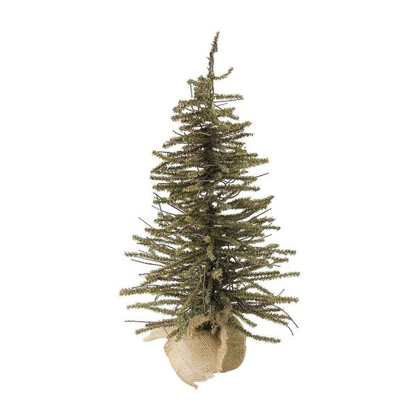 2' Warsaw Twig Artificial Christmas Tree with Burlap Base - Unlit